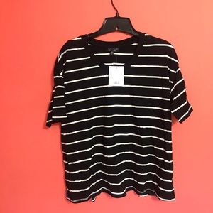 Topshop open back, striped tee